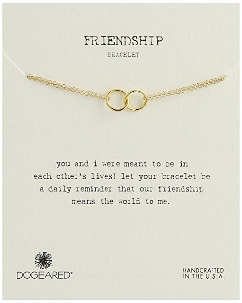 """It's Personal"" Friendship Double-Linked Rings Bracelet"