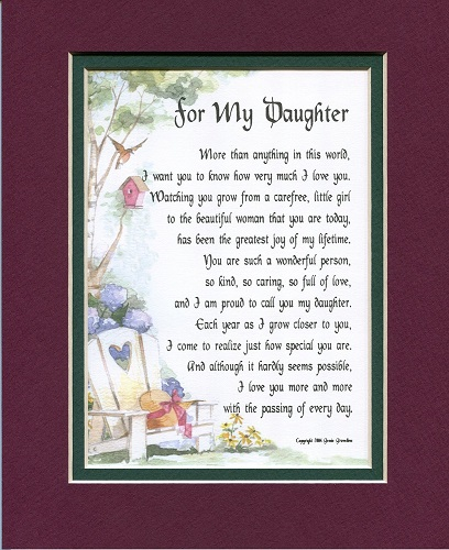 A Poem For A Daughter