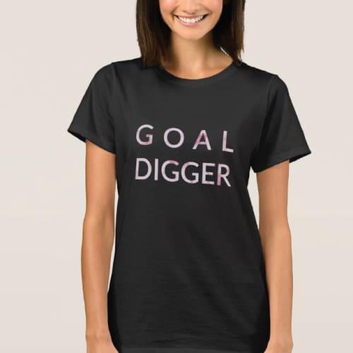 Goal Digger Pink Marble T-Shirt