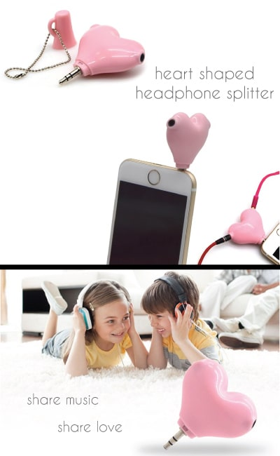 Heart Shaped Headphone Splitter