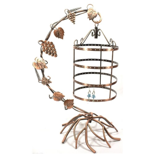 Antique Birdcage Jewelry Holder