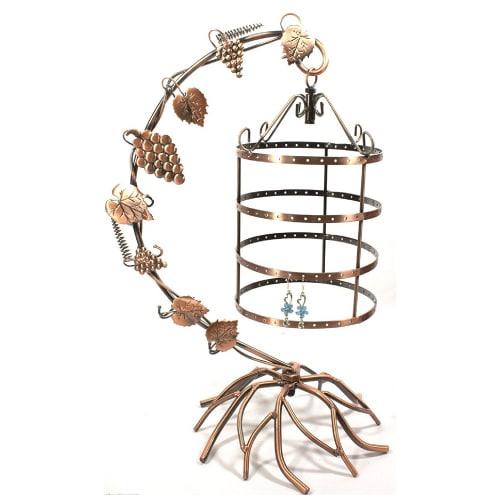 Antique Birdcage Jewelry Holder