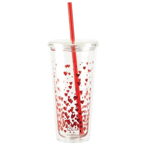 Red Hearts Tumbler