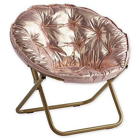 Rose Gold Saucer Club Chair