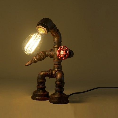 Industrial Iron Robot Table Lamp