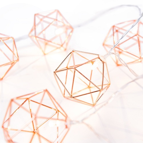 Geometric Metal LED String Lights
