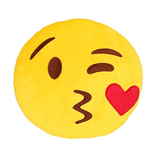 Kiss Emoji Plush Pillow