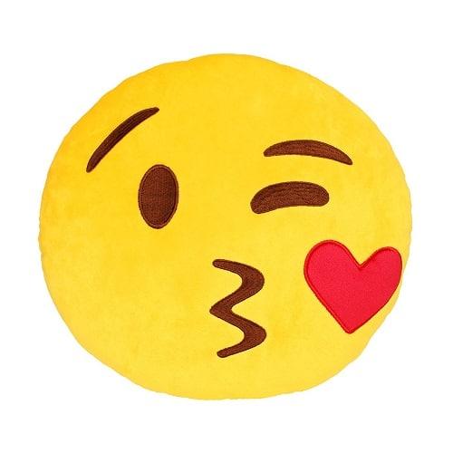 Kiss Emoji Plush Pillow