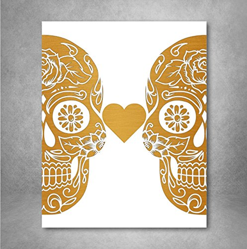 Sugar Skull Love Wall Art