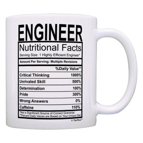 Engineer Nutritional Facts Label Mug