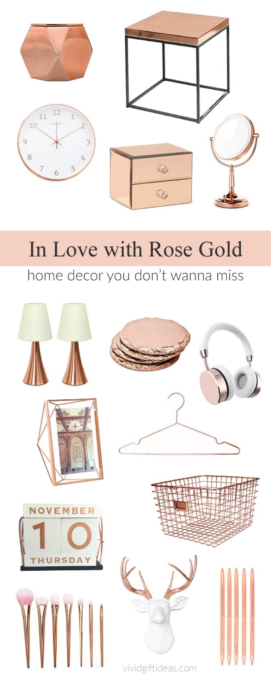 Rose Gold Love: Room Decor