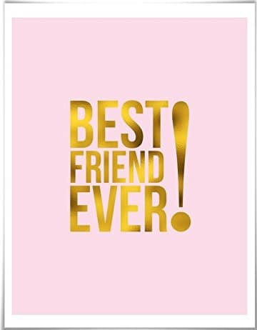 Best Friend Ever Gold Foil Art