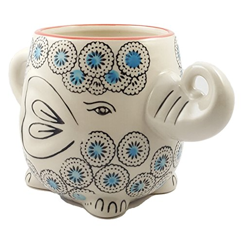 Hand-Painted Elephant Mug