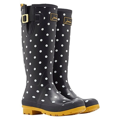 Joules Black Dot Rain Boot
