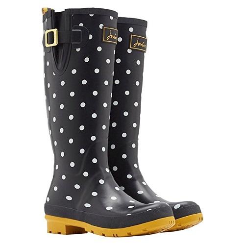 Joules Black Dot Rain Boot