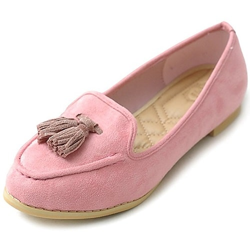 Pink Tassel Ballet Flat