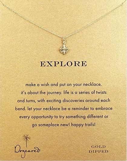 Dogeared Explore Compass Necklace