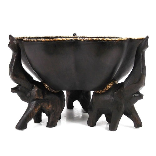 Triumphant Elephant Wooden Bowl