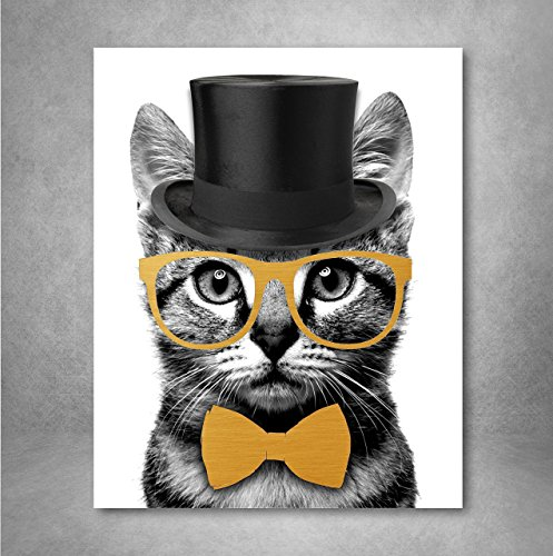 birthday gift ideas for teen girls mr. catsanova nerdy gentleman cat wall art