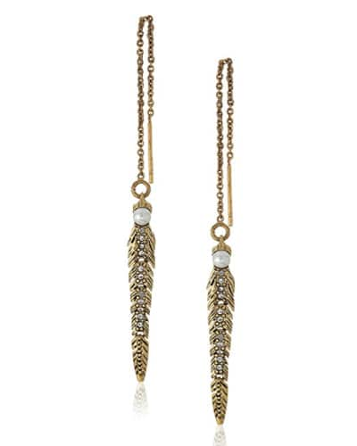 Rebecca Minkoff Feather Drop Earring