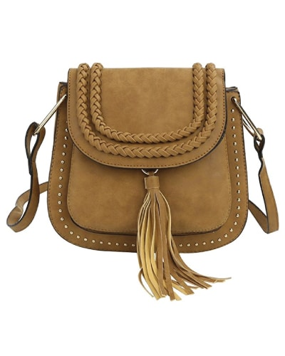 Cross Body Bag Saddle Bag with Tassel