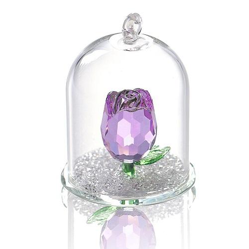 Crystal-Enchanted Rose