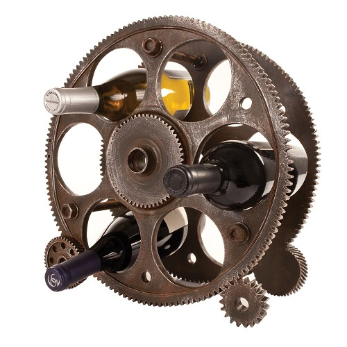 Gears And Wheels Wine Rack