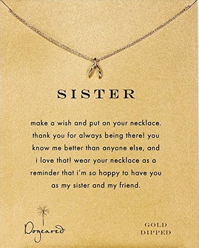 Sister Teeny Wishbone Necklace