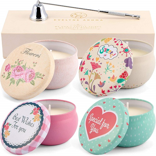 Evelyne Aroma Natural Scented Tin Candles Gift Set