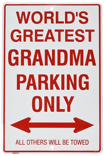 Worlds Greatest Grandma Parking Sign | gifts for grandma