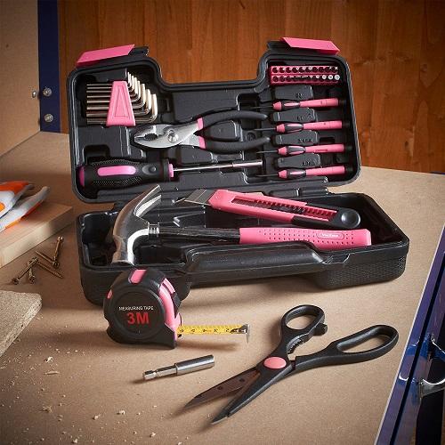 Pink Homeowner Tool Set