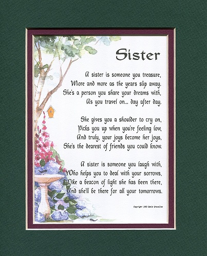 Poem For A Sister