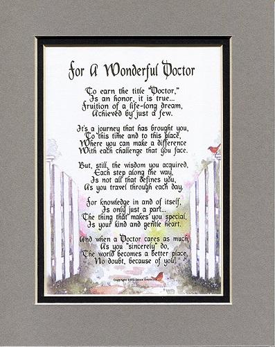 Poem For a Doctor
