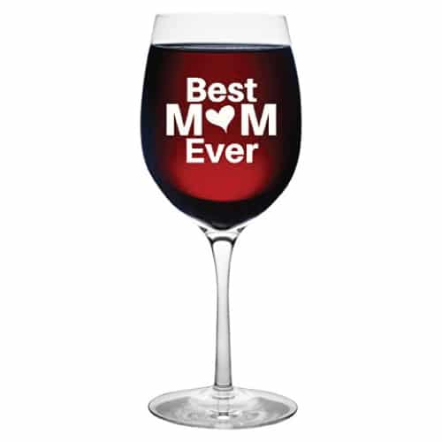 Best Mom Ever Wine Glass | working mom gifts
