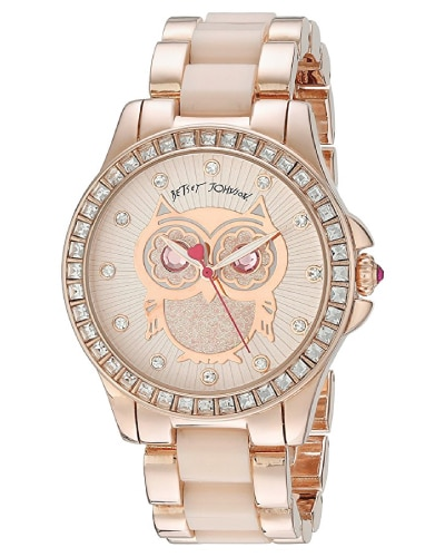Betsey Johnson Rose Gold Owl Watch | Gifts for mom