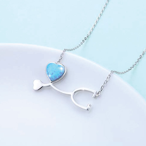 Medical Stethoscope Heartbeat Necklace