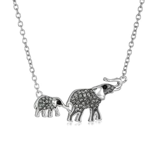 Big and Small Elephants Pendant Necklace Mothers Day