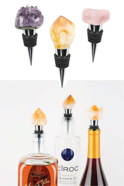 Gemstone Bottle Stopper