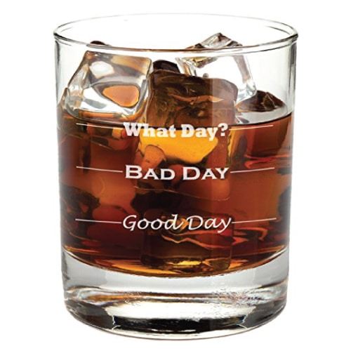 Good Day, Bad Day Funny Rocks Glass