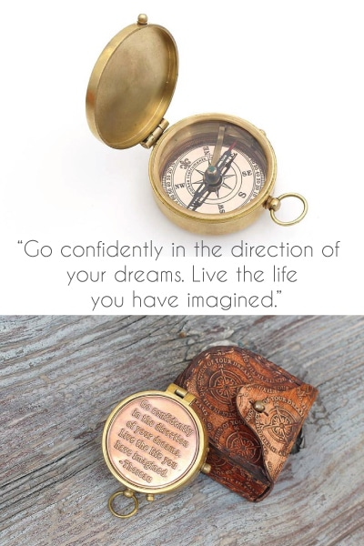 Thoreau's Go Confidently Quote Compass