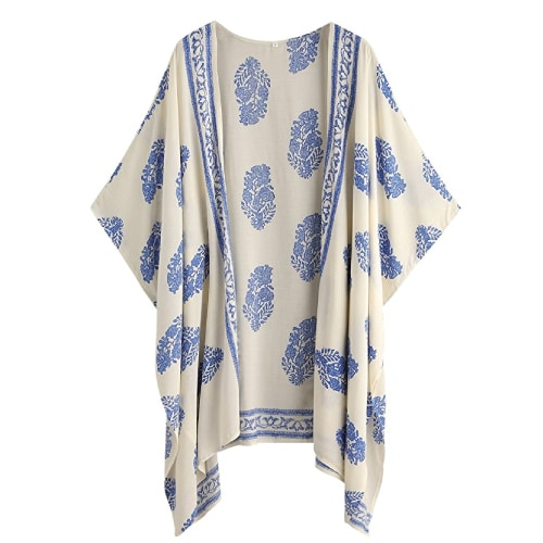 Vintage Floral Kimono Cover Up | Mothers Day gifts for grandma