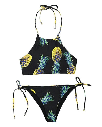 Pineapple Halter Bikini