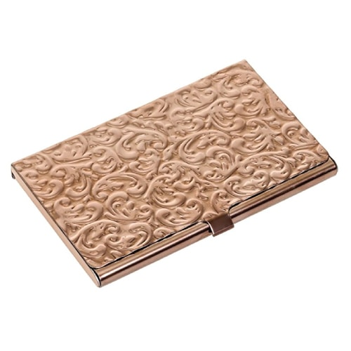 Rose Gold Business Card Case | Mothers Day gifts for working moms