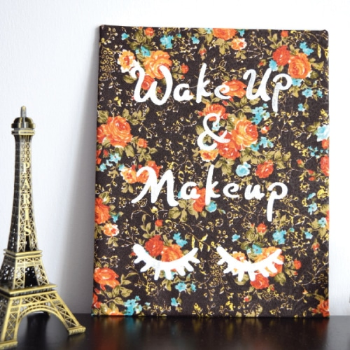 Wake Up and Makeup Decorative Art | High School Graduation Gift Ideas