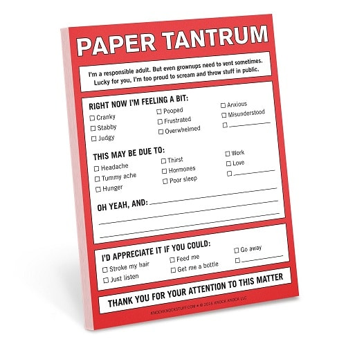 Knock Knock Paper Tantrum Nifty Note Pad