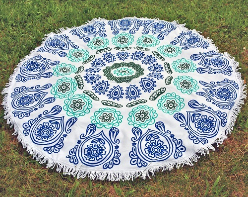 Indian Mandala Beach Blanket | Mothers Day gifts from kids
