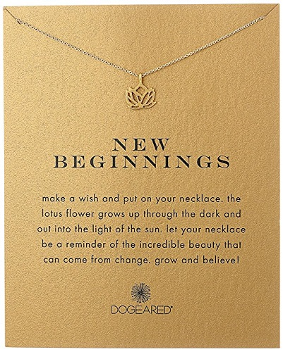 New Beginnings Rising Lotus Pendant Necklace | High School Graduation Gifts For Her