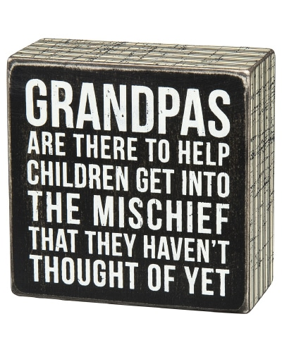 Grandpa Quote Box Sign | Fathers Day gifts for grandpa