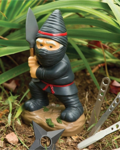 Ninja hiding at lawn | Fathers Day gifts for grandpa