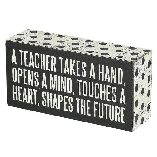 A Teacher Box Sign